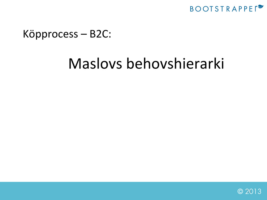 21  © 2013 Köpprocess – B2C:  Maslo...