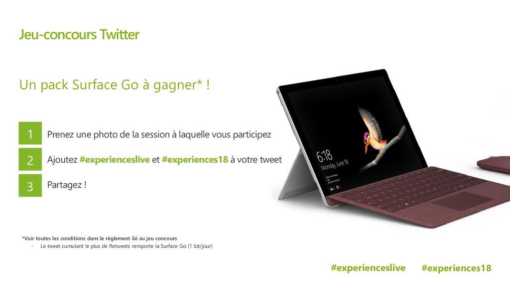 #experiences18 Microsoft experiences18 Jeu-conc...