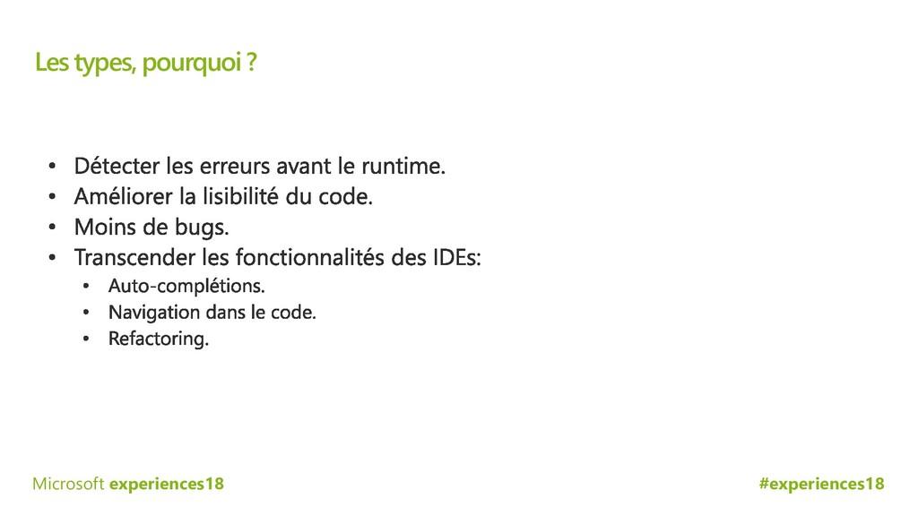 #experiences18 Microsoft experiences18 Les type...
