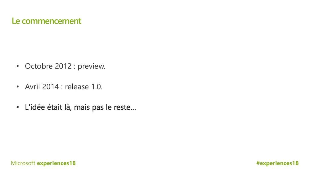 #experiences18 Microsoft experiences18 Le comme...