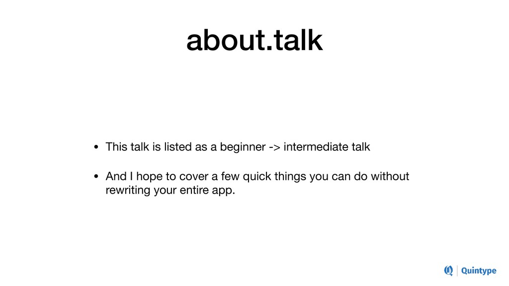 about.talk • This talk is listed as a beginner ...