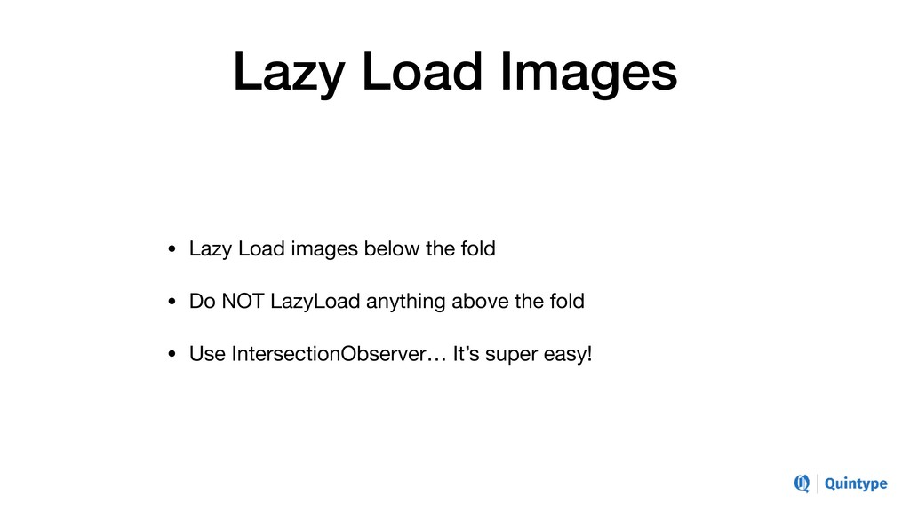 Lazy Load Images • Lazy Load images below the f...