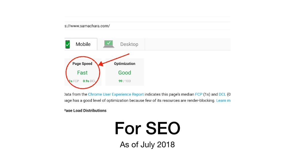 For SEO As of July 2018