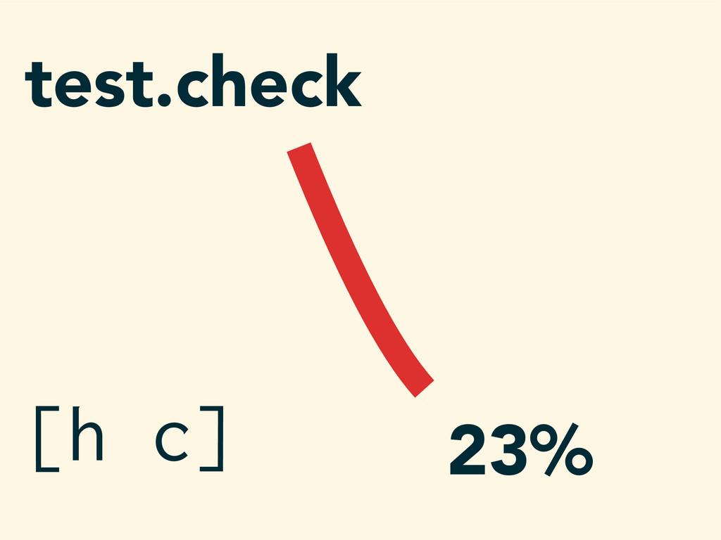 test.check 23% [h c]