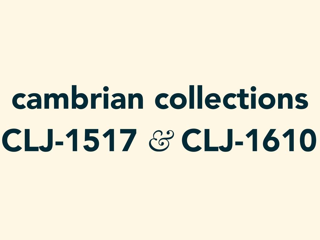 cambrian collections CLJ-1517 & CLJ-1610