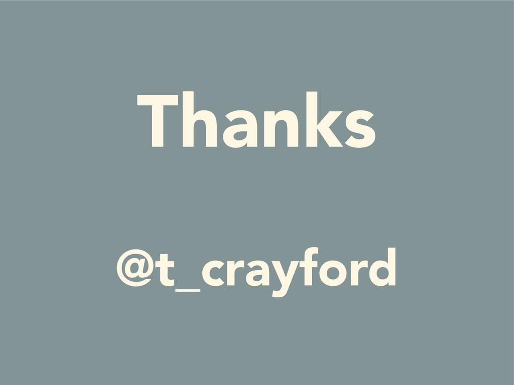Thanks @t_crayford