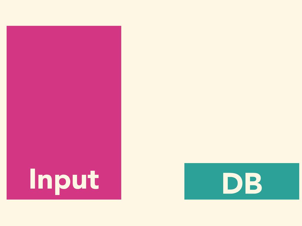 Input DB