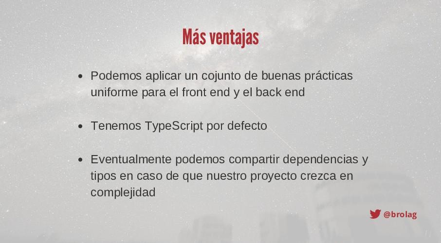 @brolag Más ventajas Podemos aplicar un cojunto...