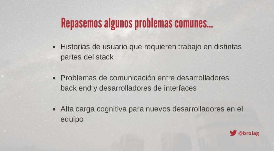 @brolag Repasemos algunos problemas comunes... ...