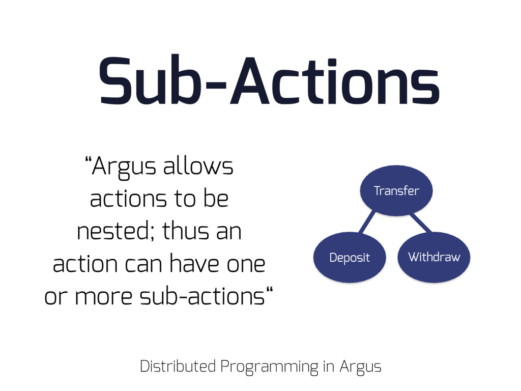 "Sub-Actions ""Argus allows actions to be nested;..."
