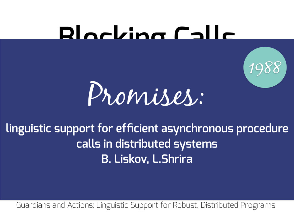 "Blocking Calls ""A new process is created to per..."