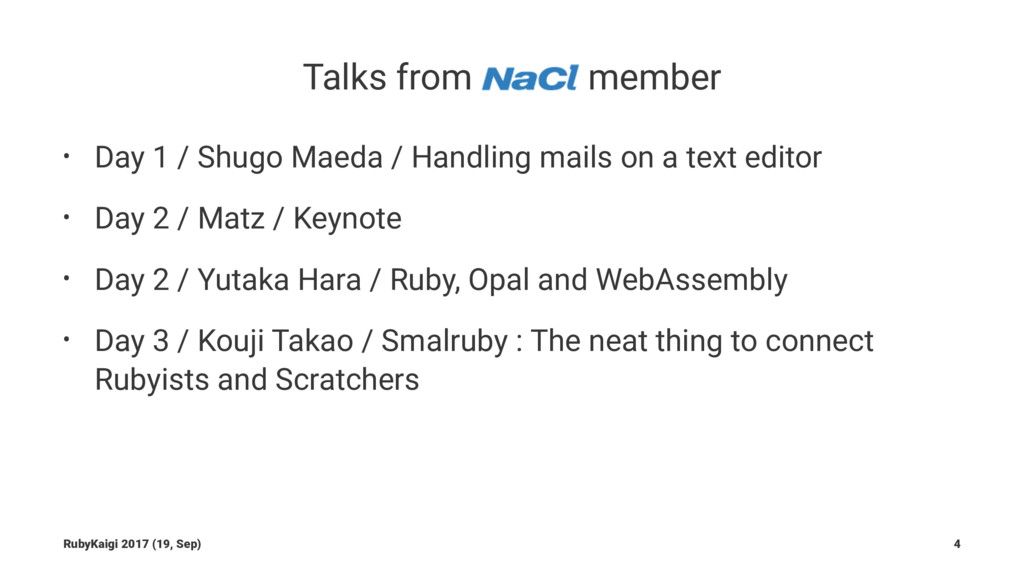 Talks from member • Day 1 / Shugo Maeda / Handl...