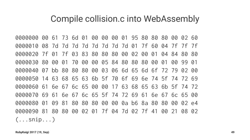 Compile collision.c into WebAssembly 0000000 00...