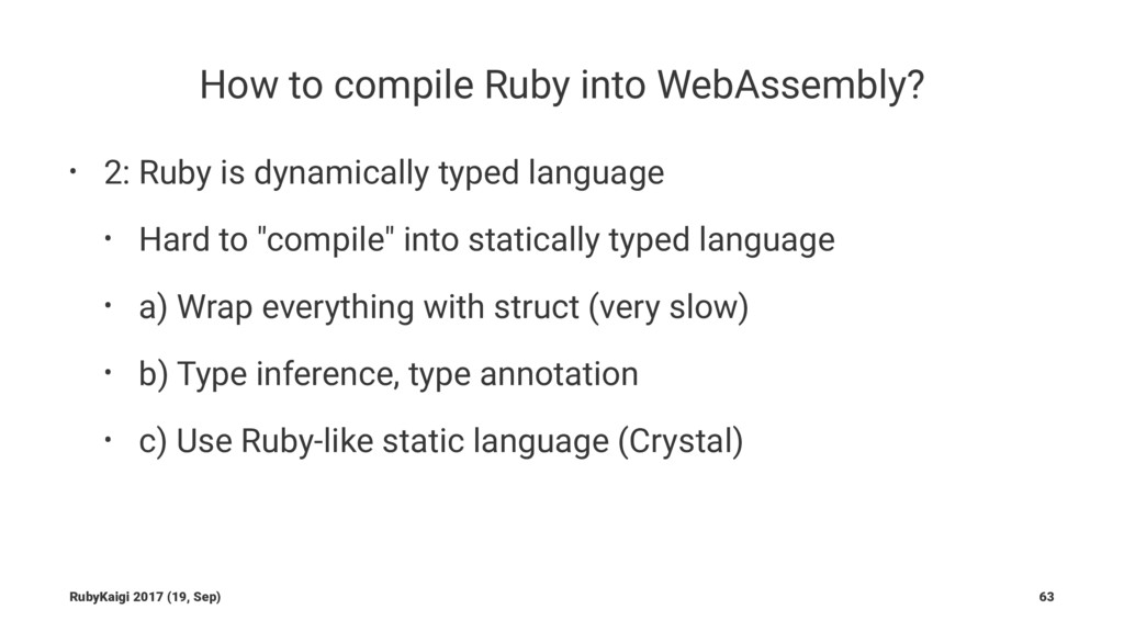 How to compile Ruby into WebAssembly? • 2: Ruby...