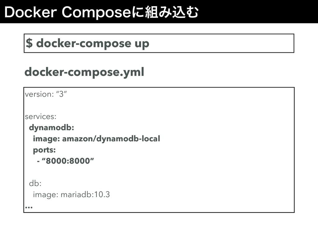 %PDLFS$PNQPTFʹΈࠐΉ $ docker-compose up version...