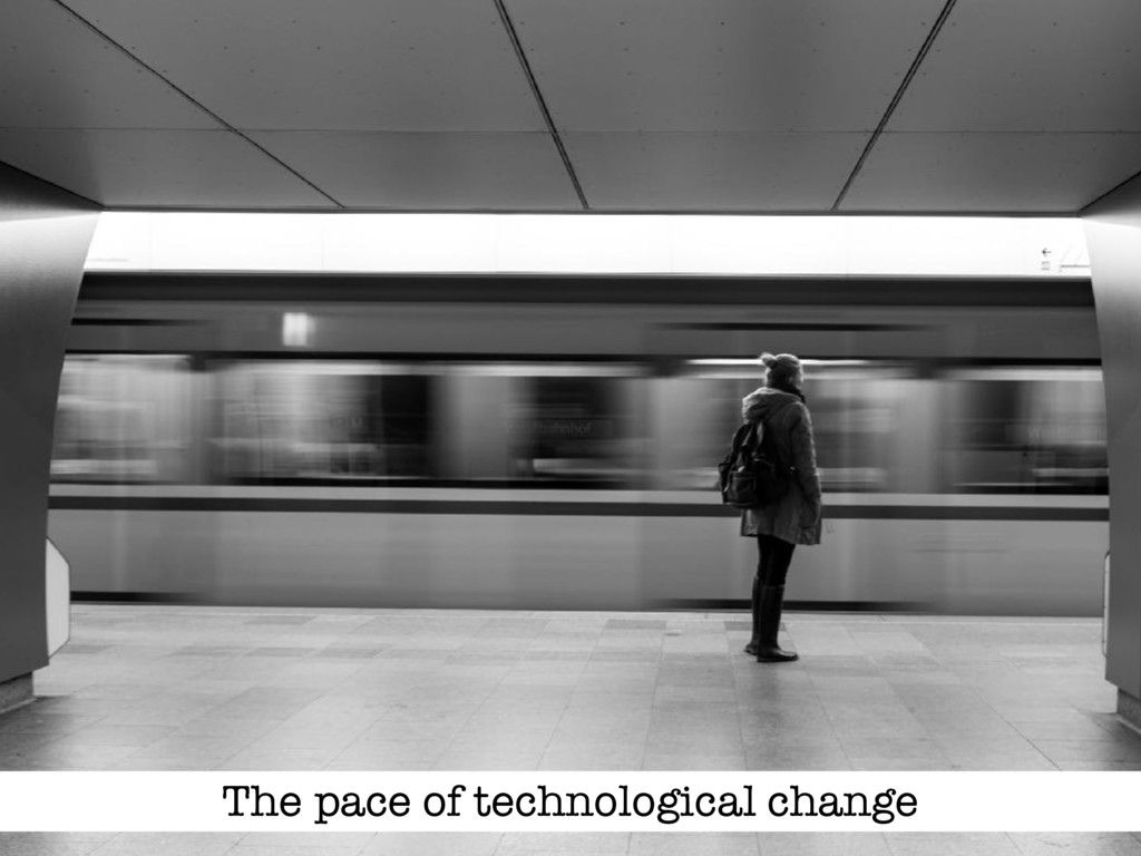 The pace of technological change