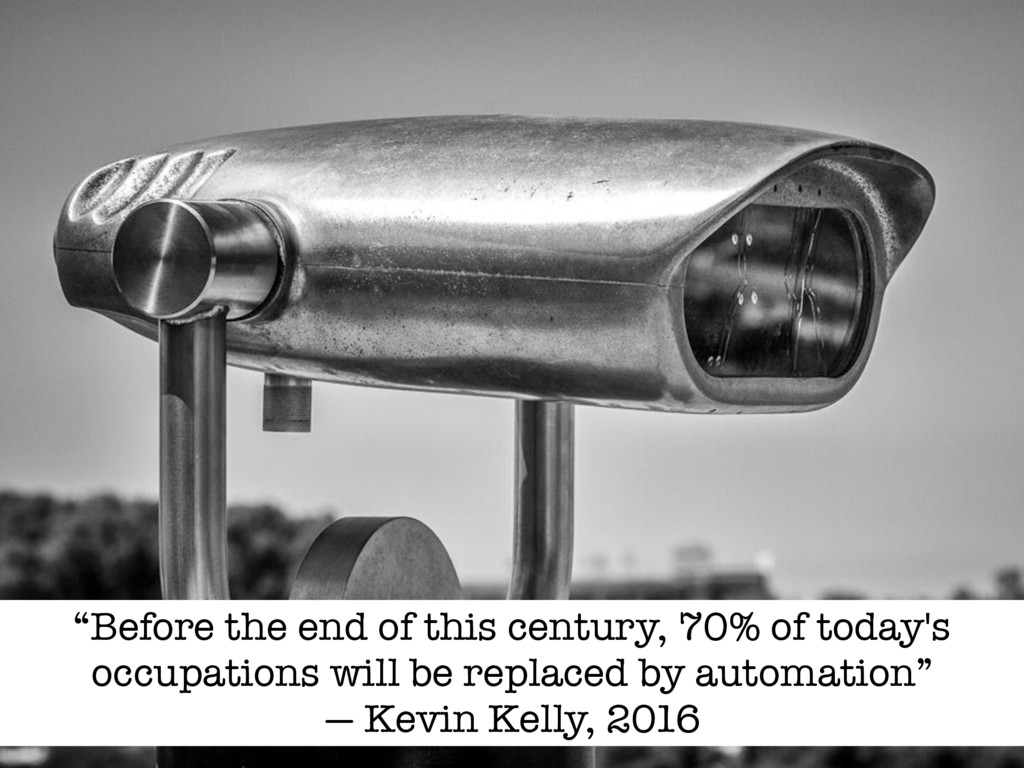"""Before the end of this century, 70% of today's..."
