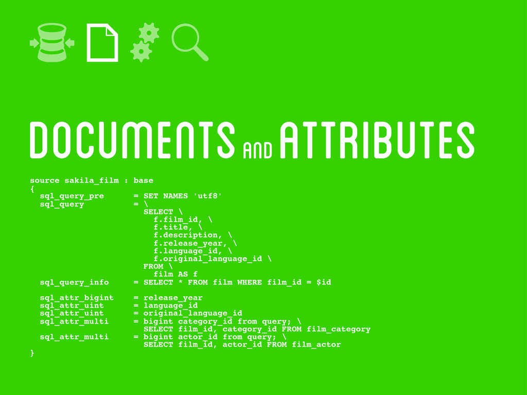 documentS and attributes source sakila_film : b...