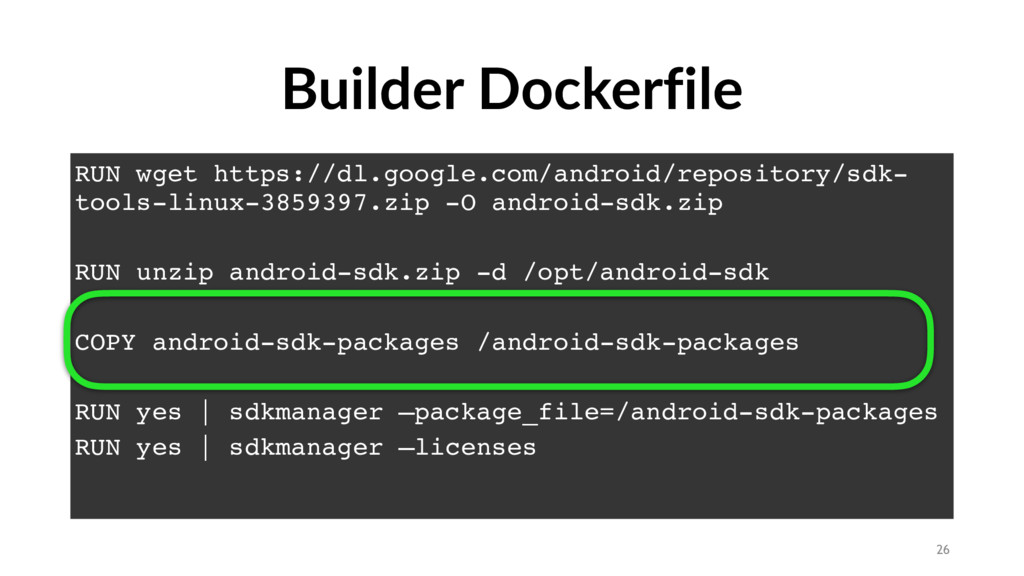 Builder Dockerfile RUN wget https://dl.google.c...