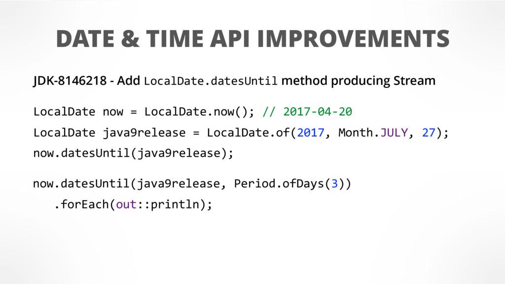 DATE & TIME API IMPROVEMENTS JDK-8146218 - Add ...
