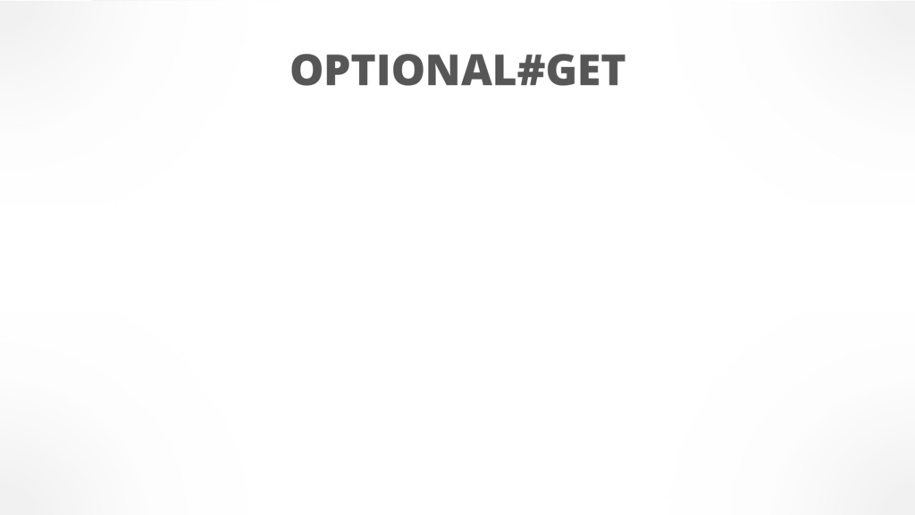 OPTIONAL#GET