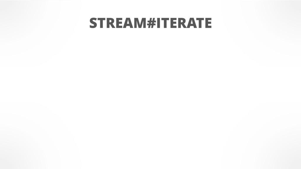 STREAM#ITERATE