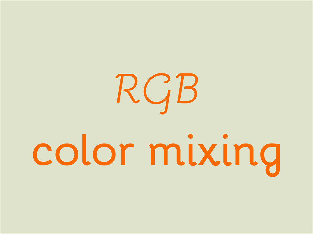RGB