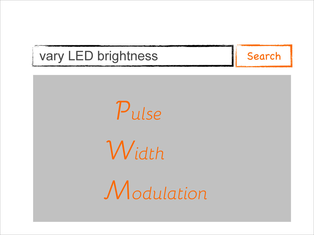 vary LED brightness Pulse Width Modulation P W ...