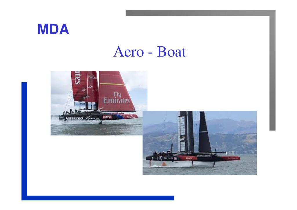 MDA Aero - Boat