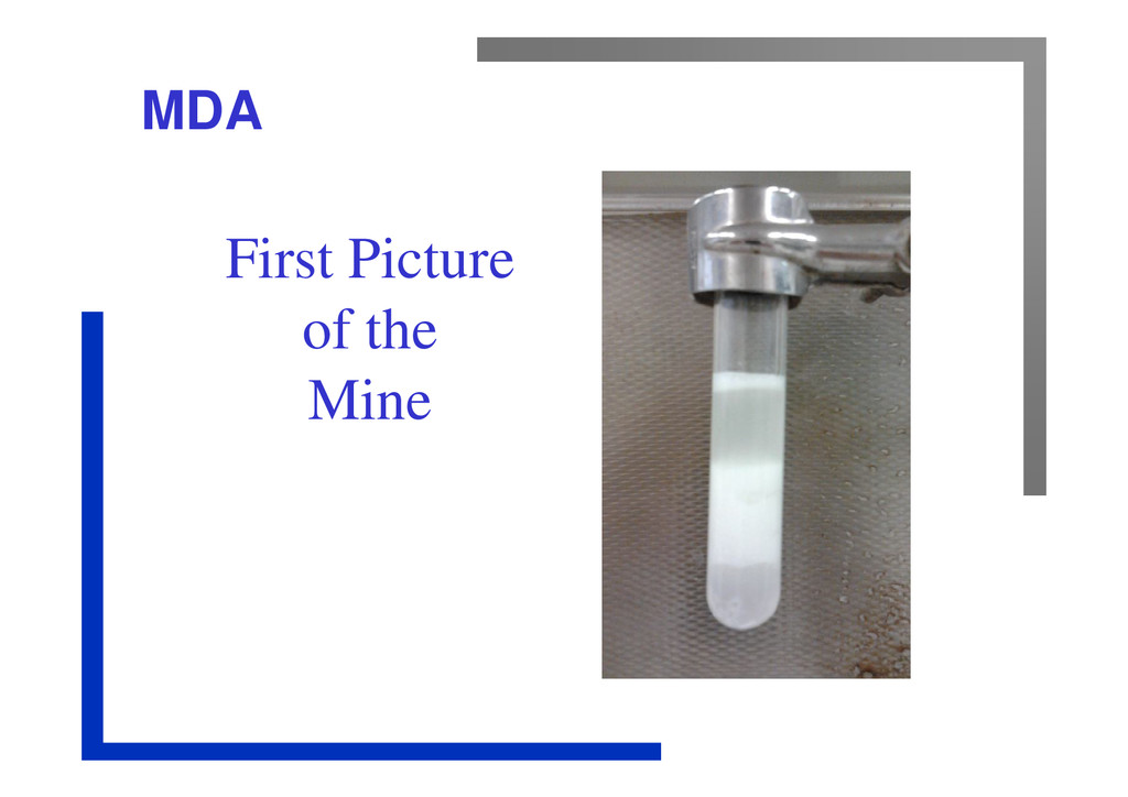 MDA First Picture of the Mine