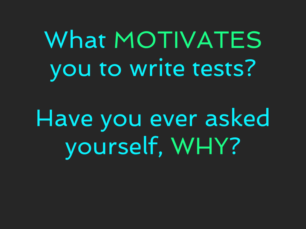 Have you ever asked yourself, WHY? What MOTIVAT...