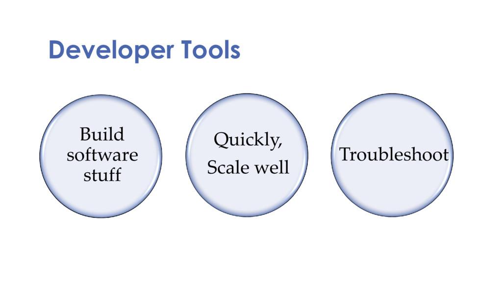 Developer Tools Build software stuff Quickly, S...