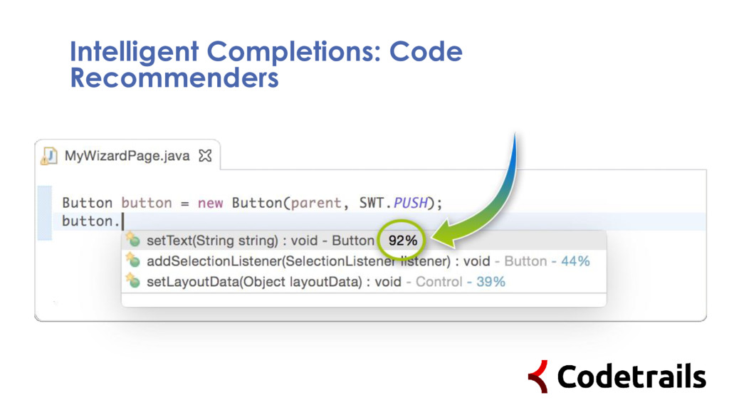 Intelligent Completions: Code Recommenders