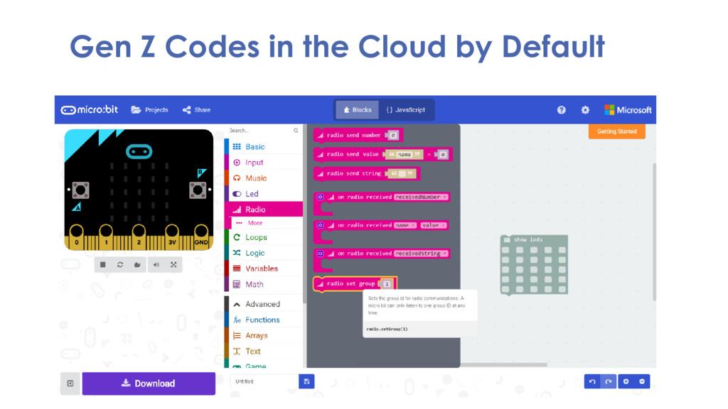 Gen Z Codes in the Cloud by Default