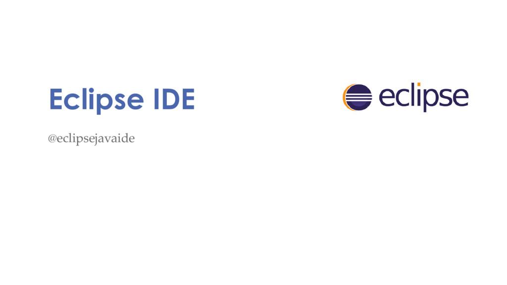 Eclipse IDE @eclipsejavaide