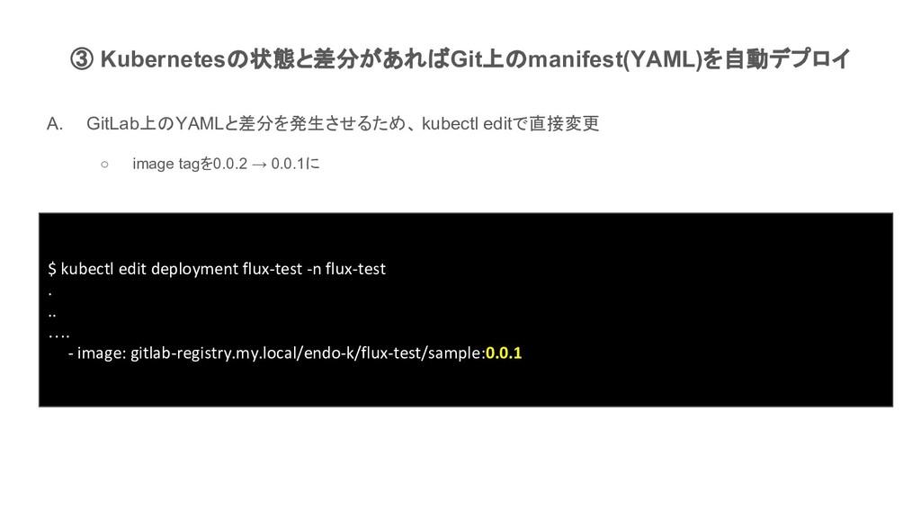 $ kubectl edit deployment flux-test -n flux-tes...