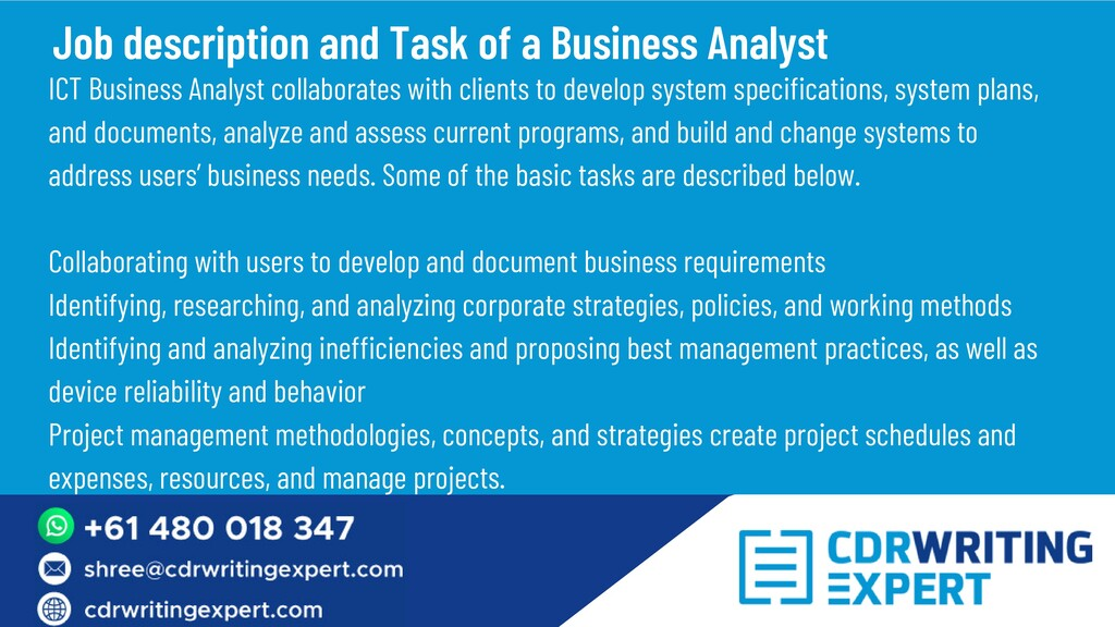 ICT Business Analyst collaborates with clients ...