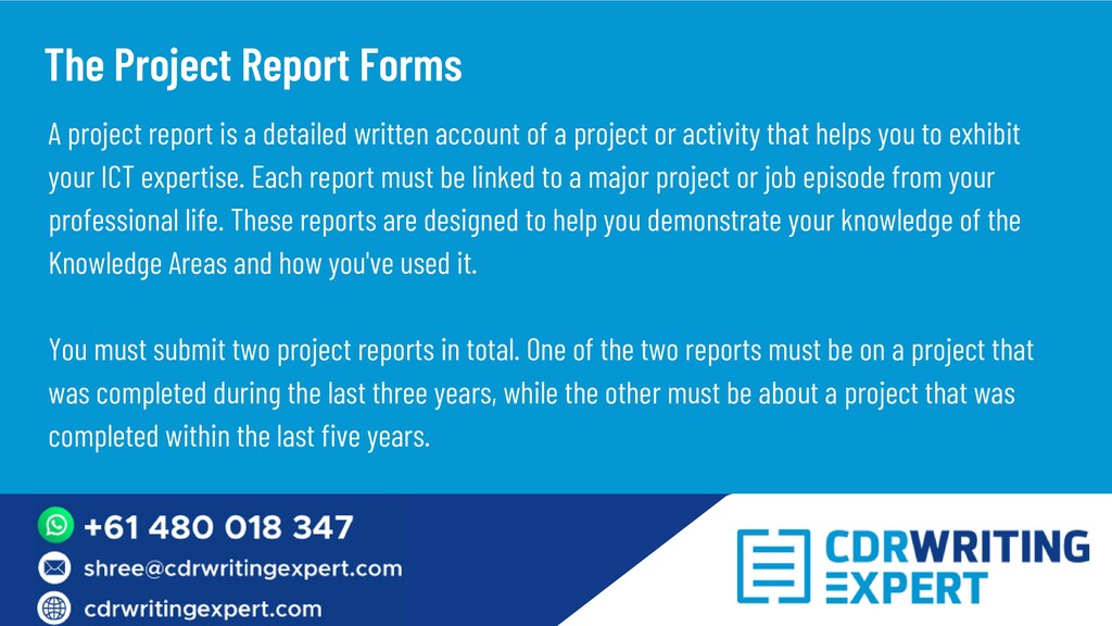 A project report is a detailed written account ...