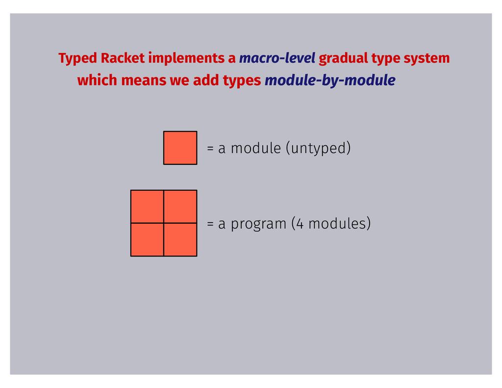 Typed Racket implements a macro-level gradual t...