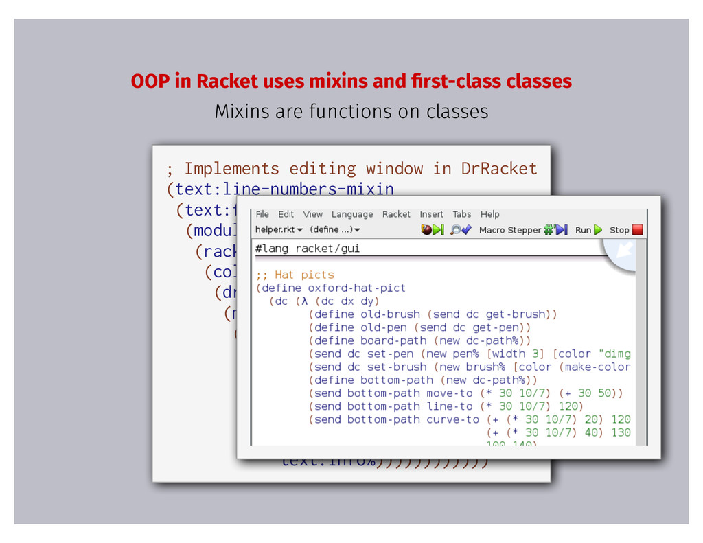 ; Implements editing window in DrRacket (text:l...