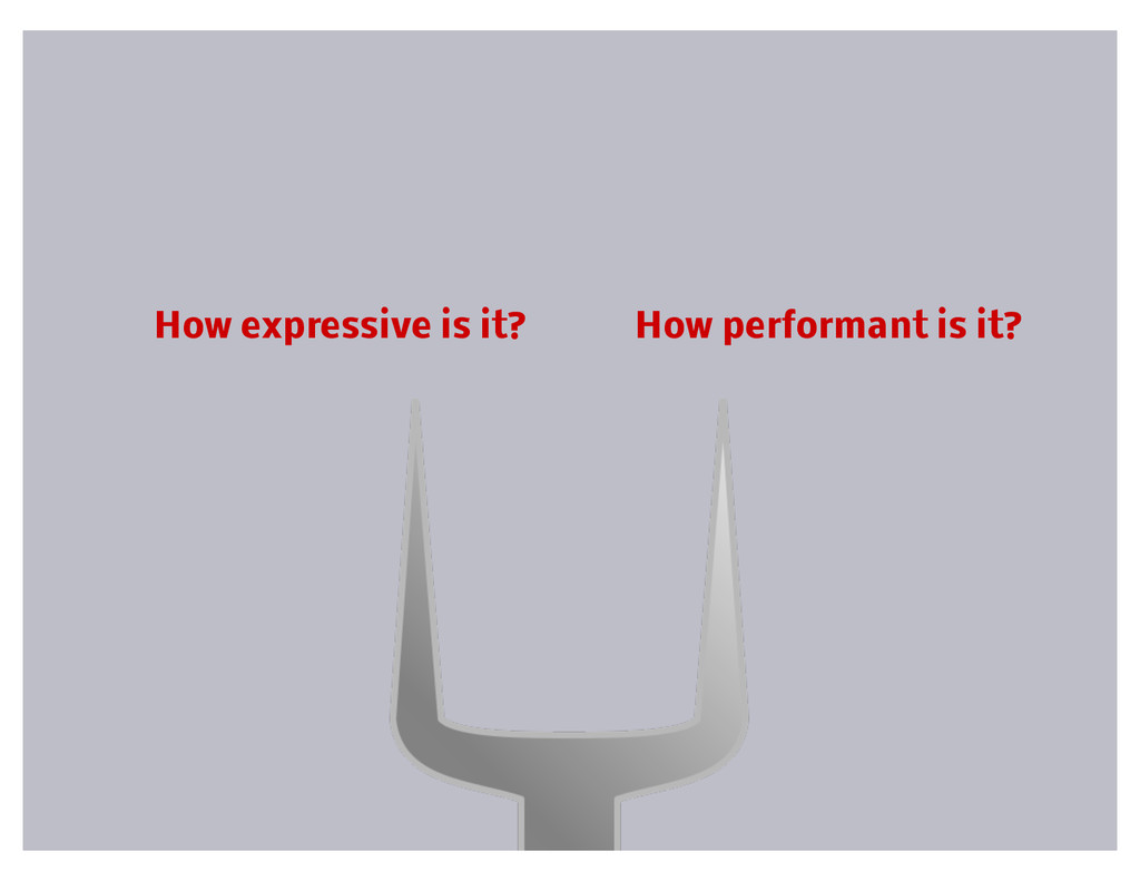 How expressive is it? How performant is it?