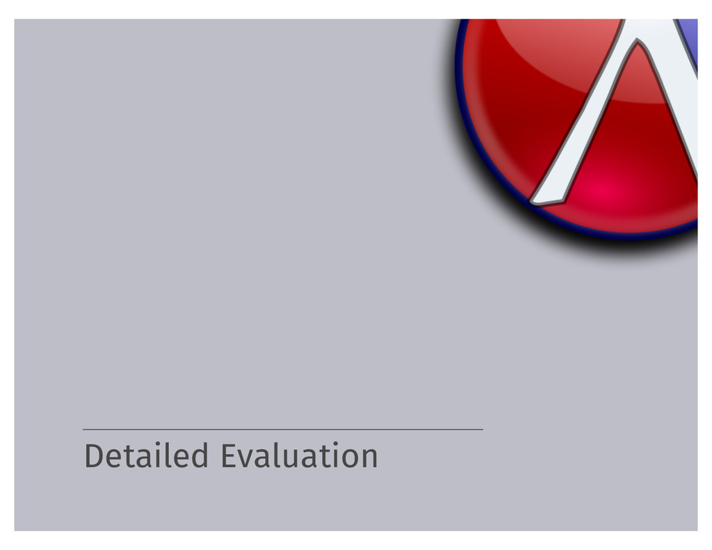 Detailed Evaluation