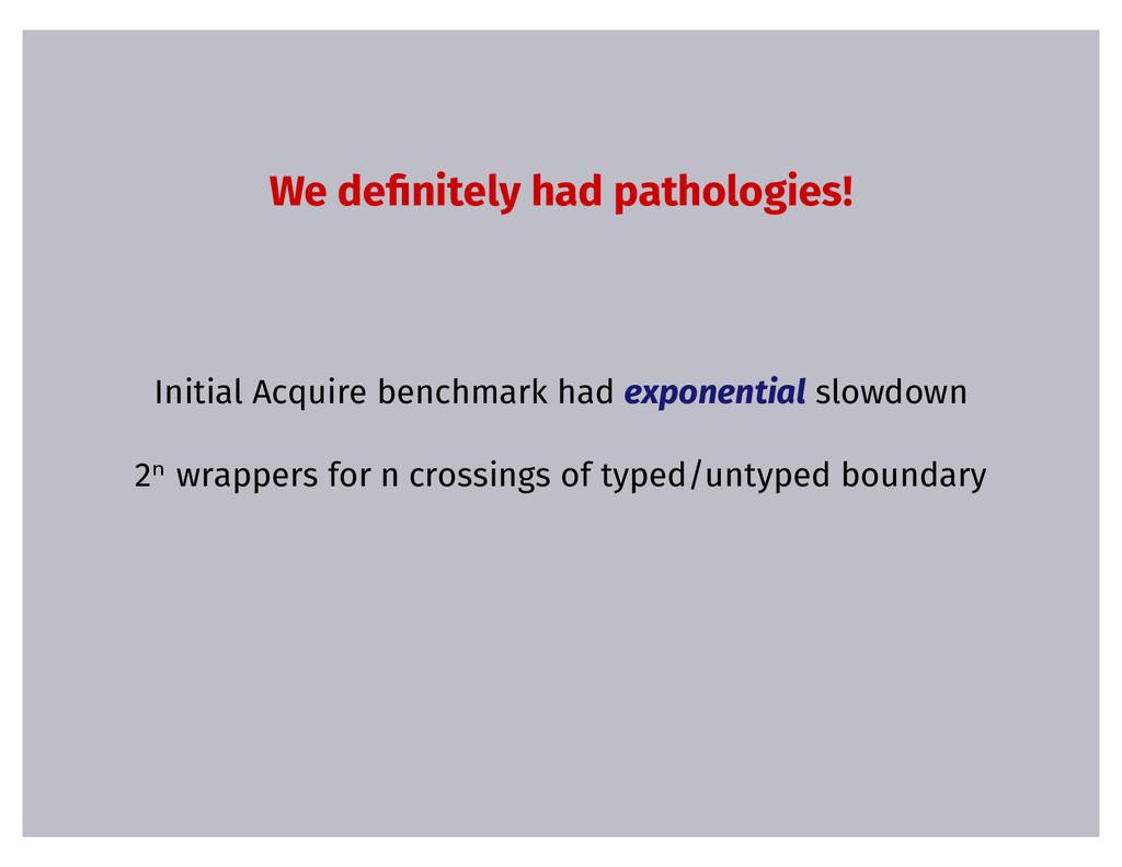 We de�nitely had pathologies! Initial Acquire b...