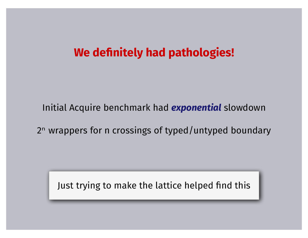 We de�nitely had pathologies! Initial Acquire b...