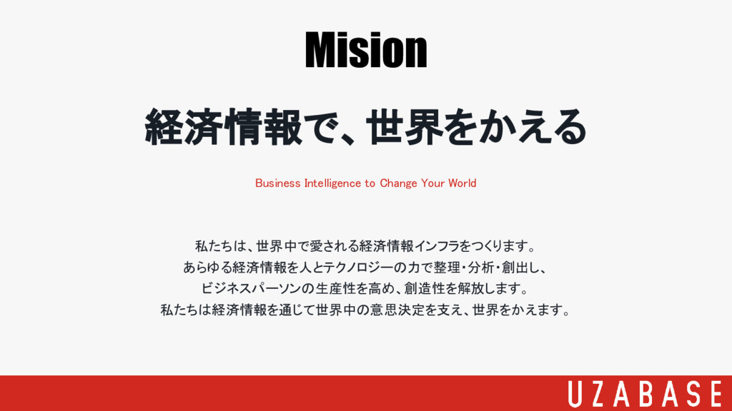 Mision 経済情報で、世界をかえる Business Intelligence to Ch...