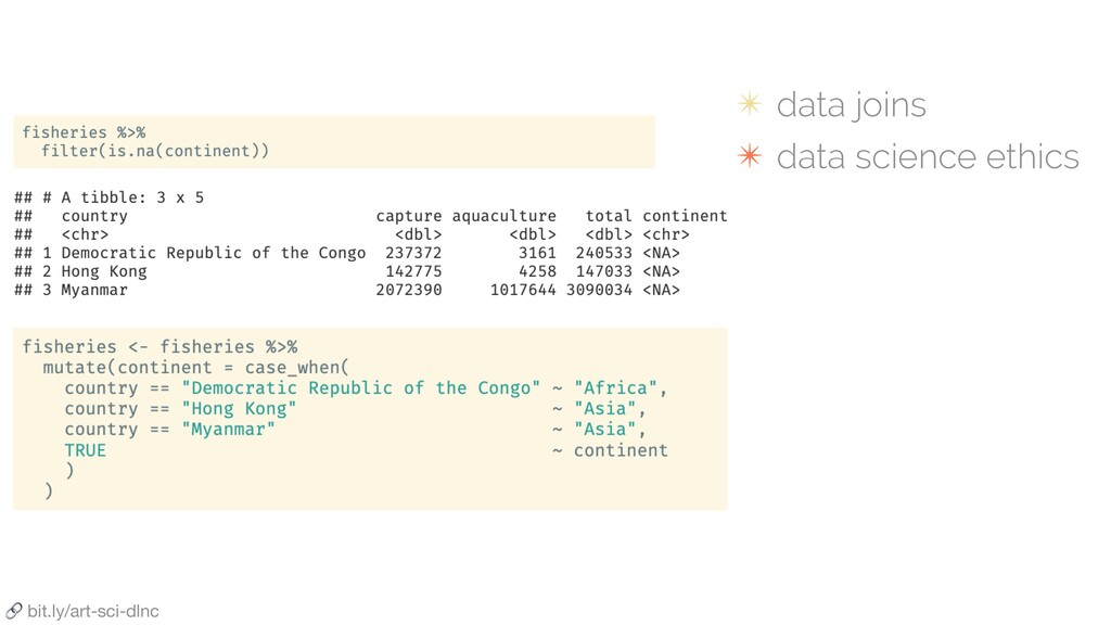 ✴ data joins ✴ data science ethics  bit.ly/art-...