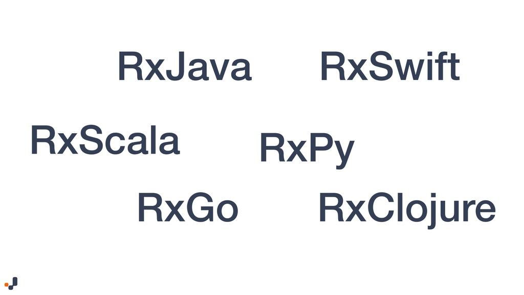 RxJava RxSwift RxScala RxClojure RxGo RxPy