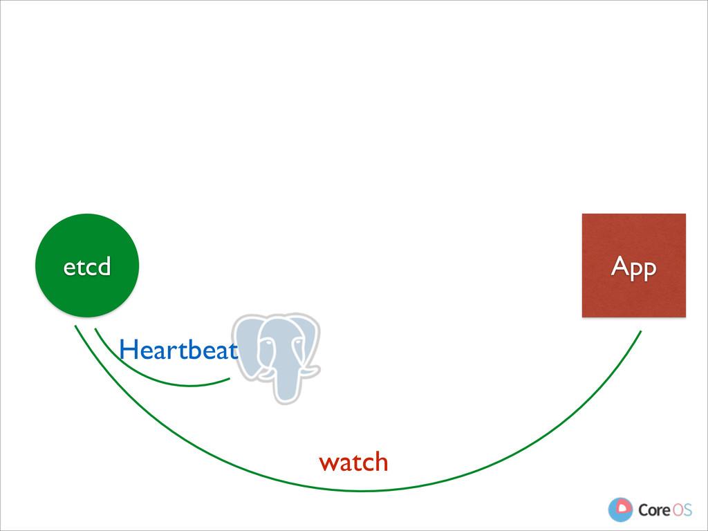 App etcd watch Heartbeat