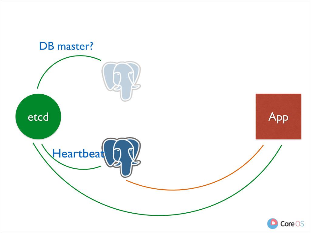 App etcd DB master? Heartbeat