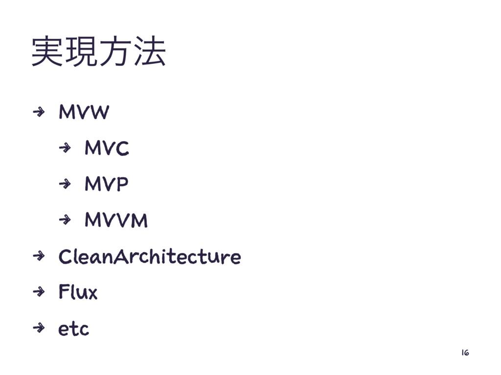 ࣮ݱํ๏ 4 MVW 4 MVC 4 MVP 4 MVVM 4 CleanArchitectu...